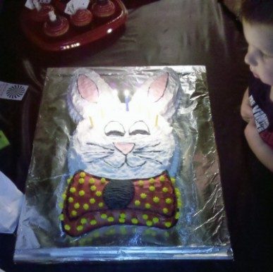 Bunny Rabbit Cake at Birthday Party Show